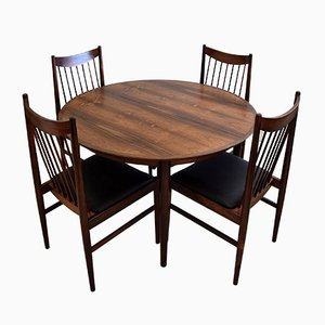 Mid-Century Rosewood Dining Room Set by Arne Vodder for Sibast