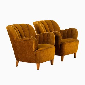 Mid-Century Easy Chairs by Otto Schulz, Set of 2