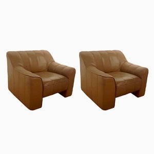 Buffalo Leather Model DS-44 Lounge Chairs from de Sede, 1970s, Set of 2