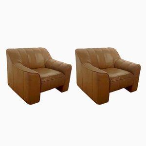 Modell DS-44 Sessel mit Bezug aus Büffelleder von de Sede, 1970er, 2er Set
