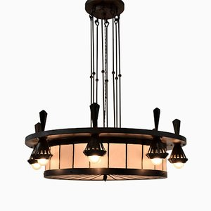 Art Deco Chandelier from Winkelman and Van de Bijl, 1925