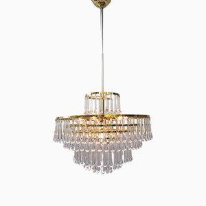 Mid-Century Modernist Murano Glass Chandelier