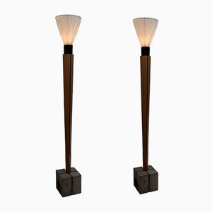 Art Deco Style Floor Lamps by Bert Verwey, 2000s, Set of 2