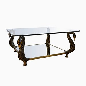 Table Swan Hollywood Regency Vintage