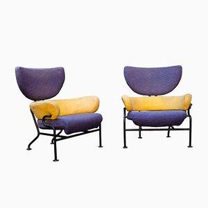Tre Pezzi Polsterstühle von Franco Albini für Poggi, 1950er, 2er Set