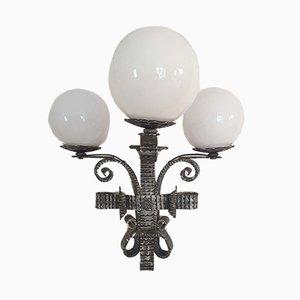 Spanische Art Deco Wandlampe aus Gusseisen, 1930er