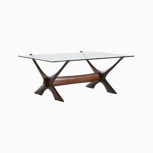 Vintage Model Condor Dark Rosewood Coffee Table by Fredrik Schriever-Abeln for Örebro Glas