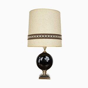 Lámpara de mesa de metal cromado y latón, años 60