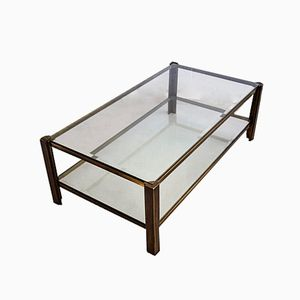 Solid Brass Coffee Table from Maison Jansen, 1980s
