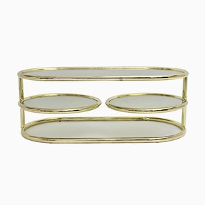Brass Plated Swiveling Coffee Table from Morex Italy, 1970s