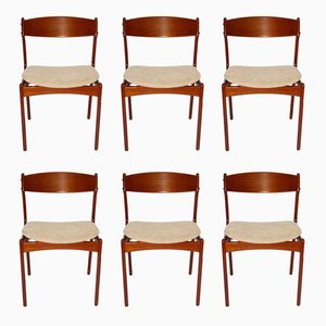 Danish Dining Chairs by Erik Buch for O. D. Møbler, 1967, Set of 6