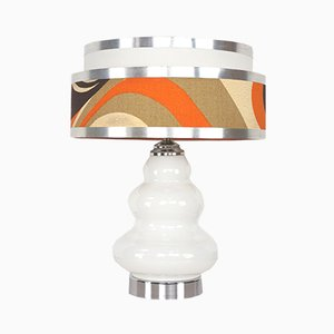 Chrome & Glass Lamp, 1960s