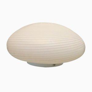 Deckenlampe aus Muranoglas mit spiralförmigem Muster, 1980er