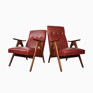 Armchairs by Louis Van Teeffelen for WéBé, 1950s, Set of 2