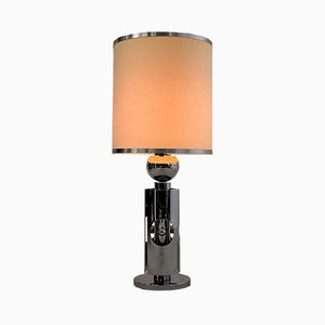 Mid-Century Modern Chrome Table Lamp by Gaetano Sciolari