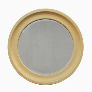 Runder italienischer Spiegel mit vergoldetem Rahmen aus Aluminium, 1960er