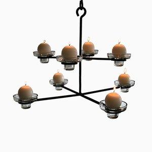 Lámpara de araña escandinava Mid-Century moderna de Erik Höglund