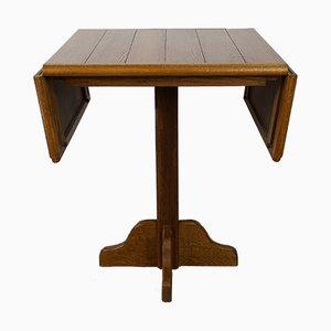 Mesa de comedor plegable de roble, años 60