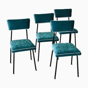Französische Esszimmerstühle, 1956, 4er Set