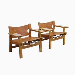 Spanish Chairs by Børge Mogensen for Fredericia, 1950s, Set of 2