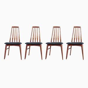 Chaises de Salle à Manger Eva par Niels Kofoed pour Koefoeds Mobelfabrik, 1960s, Set de 4
