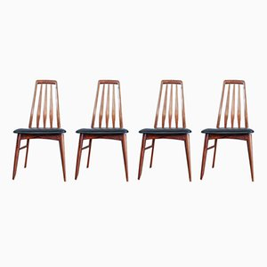 Eva Dining Chairs by Niels Kofoed for Koefoeds Mobelfabrik, 1960s, Set of 4