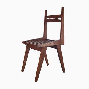 Stuhl mit Sitz aus Holzlatten, 1950er