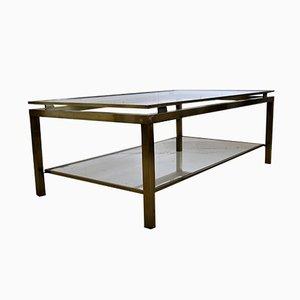 Table Basse Mid-Century en Laiton par Maison Jansen