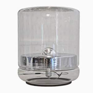 Große Vintage Stehlampe aus Glas von Mazzega