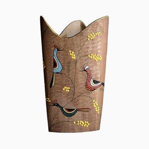 Handgemachter Schirmständer aus Keramik, 1960er
