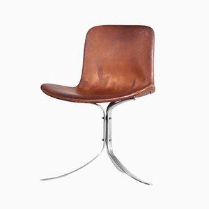 Vintage PK9 Stuhl von Poul Kjærholm für E. Kold Christensen