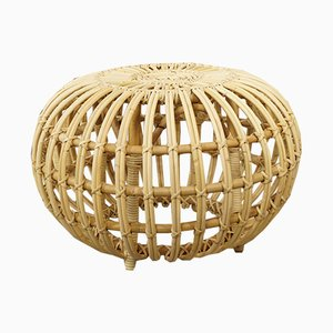 Large Rattan Ottoman by Franco Albini, 1950s