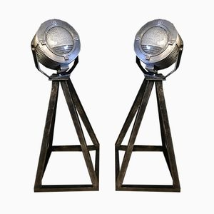 American Aircraft Searchlights, 1950s, Set of 2