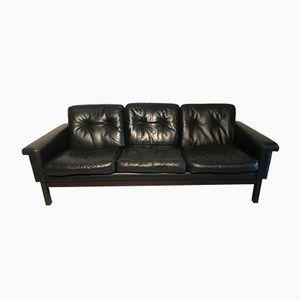 Vintage Sofa aus Leder und Palisander von Asko
