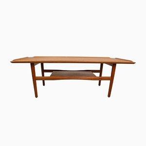 Mesa de centro vintage de teca de IMHA, años 60
