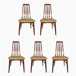 Teak Eva Dining Chairs by Niels Koefoed, 1960s, Set of 5