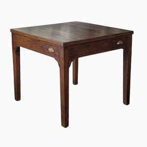 Quadratische Antike Card Table
