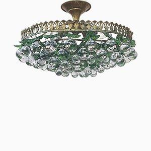 Vintage Einbaulampe aus Muranoglas