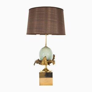 Lampada da tavolo dorata di Chrystiane Charles per Maison Charles, anni '70