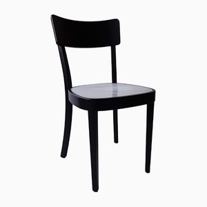 Neon Light & Black-Lacquered Wood Chair from Horgen Glarus for Hidden, 2000s
