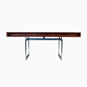 Danish Wengé Executive Desk by Bodil Kjær for E. Pedersen & Son, 1960s