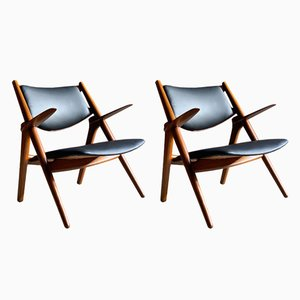 CH-28 Sawbuck Chairs by Hans Wegner for Carl Hansen, 1950s, Set of 2