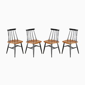Vintage Fanett Chairs by Ilmari Tapiovaara for Edsby Verken, 1960s, Set of 4