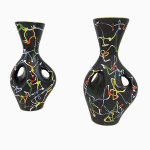 Italienische Vintage Vasen von Ce.As, 1950er, 2er Set