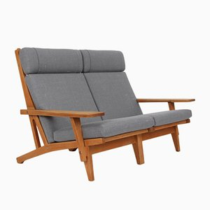 Modular GE375 Oak 2-Seater Sofa by Hans J. Wegner for Getama, 1970s