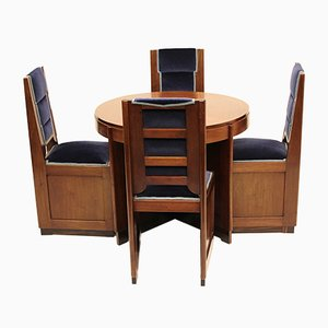 Dutch Art Deco Dining Set from Gebr. Reens, 1928