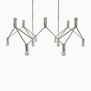 Lámpara de araña de 14 luces, años 60