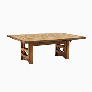 Table Basse à Hauteur Ajustable en Chêne par Guillerme et Chambron, 1960s