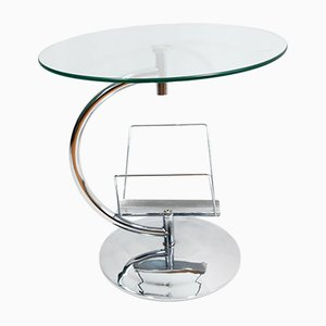 Glass Coffee Table with Magazine Rack from Kokoon Design, 1980s