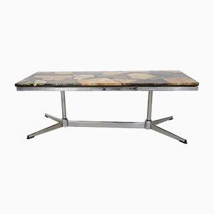 Table Basse Vintage en Faux Marbre
